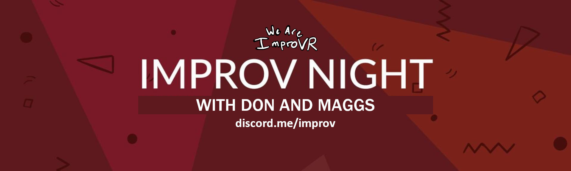 Improv night banner don and maggs