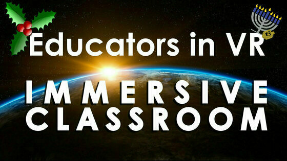 Tile educators in vr   immersive classroom holiday altspace tile
