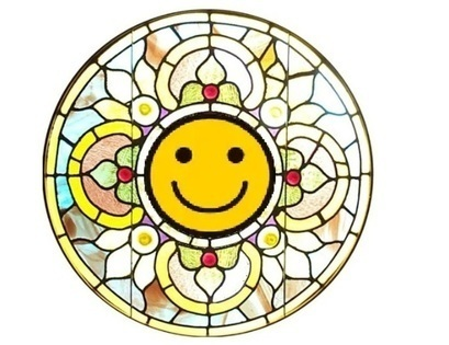 Tile happy stained glass backup