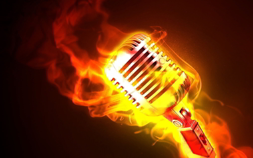Tile mic on fire 1