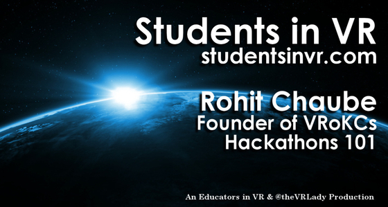 Tile d1101600frn40 students in vr   asvr tile   rohit chaube   hackathons