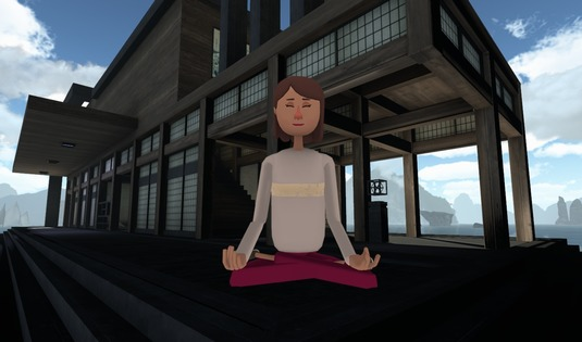 Tile meditation in vr